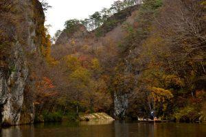 晩秋の猊鼻渓